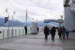 15 juni 2018, Vancouver Canada: Canada Place, huis van de Handel van Vancouver en Convention Center -het vastleggen Vancouver stock foto's