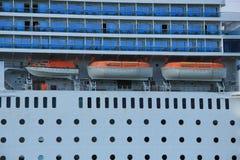 13 juni, 2014 Velsen: Costa Neo Romantica-detail van schip Stock Foto's