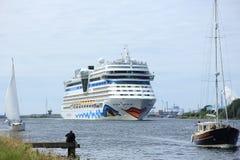 22 juni, 2014 Velsen; Nederland: Aida Stella op het Noorden S Stock Afbeelding