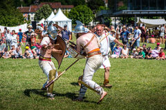 10.-11. Juni 2017 Vienne, Frankreich Gallo-römische Tageshistorisches Festival lizenzfreie stockbilder