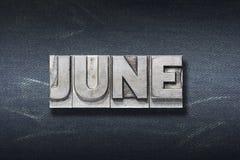 Juni-woordhol royalty-vrije stock fotografie
