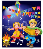 Junina Party Theme. June Festival Theme (typical regional party Royalty Free Stock Photos