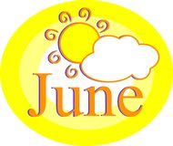 Junio Imágenes de archivo libres de regalías