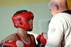 Junior boxing tournament Stock Photography