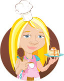 Junior Chef Illustration Stock Photo