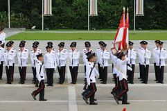 Junior colorus marching off Royalty Free Stock Photos