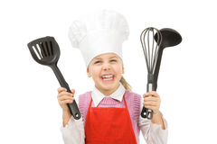 Junior cook Stock Images