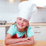 Junior cook smiling Royalty Free Stock Images