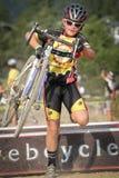 Junior Cyclocross Racer Royalty Free Stock Photo
