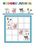 Junior de Sudoku illustration stock