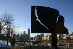 Junior del Martin Luther King sopra Atlanta fotografie stock libere da diritti