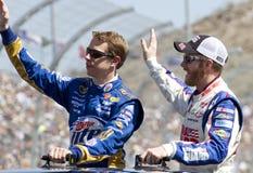 Junior di Dale Earnhardt del NASCAR e chiodino a testa laterale Keselowski Immagini Stock Libere da Diritti