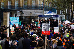 Junior Doctor Protest Placard Images libres de droits