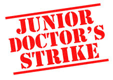 JUNIOR DOCTOR`S STRIKE. JUNIOR DOCTOR'S STRIKE red Rubber Stamp over a white background Stock Photos