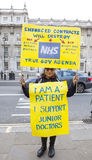 Junior Doctors March on Downing Street royalty free stock photography