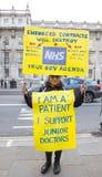 Junior Doctors March no Downing Street Fotografia de Stock Royalty Free