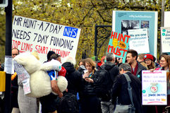 Junior Doctors Strike Stock Afbeelding