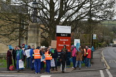 Junior Doctors Strike Stock Photo
