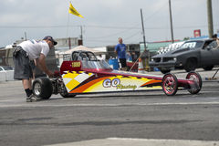 Junior dragster. Napierville dragway, July 25, 2015, picture of junior dragster on the track in preparation before the start Stock Images