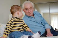 Junior ed anziano Immagini Stock