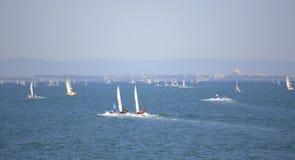 Junior European Championship sailing race,Burgas Stock Photography