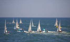 Junior European Championship sailing race Stock Photo