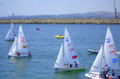 Junior European Championship Sailing 2015 Royalty Free Stock Images