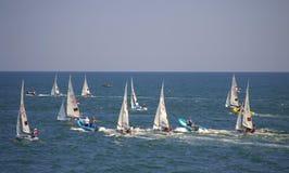 Junior European Championship seglinglopp Arkivfoto