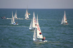 Junior European Championship seglinglopp Arkivfoton
