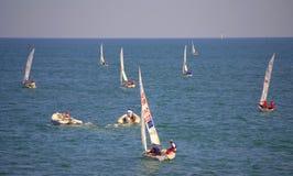 Junior European Championship seglinglopp Royaltyfri Fotografi