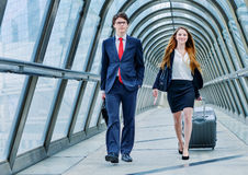 Junior executives dynamics in business trip Stock Photo