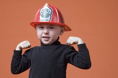 Junior firefighter Royalty Free Stock Image
