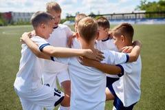 Junior Football Team United fotografia stock libera da diritti