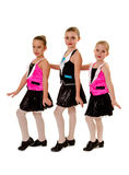 Junior Girls Tap Dance Group Fotografie Stock Libere da Diritti