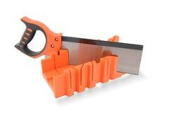 Junior hacksaw with orange plastic handle Royalty Free Stock Photo