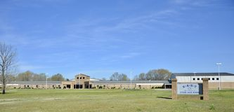 Junior High School Landscape do leste, Somerville, TN fotografia de stock royalty free