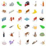 Junior icons set, isometric style. Junior icons set. Isometric set of 36 junior vector icons for web isolated on white background Stock Photography
