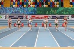 Junior Indoor Championships Istanbul balcánico 2017 fotografía de archivo libre de regalías