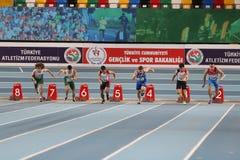 Junior Indoor Championships Istanbul balcánico 2017 imagenes de archivo