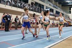 Junior Indoor Championships Istanbul balcánico 2017 fotos de archivo libres de regalías