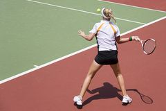 Junior Ladies Tennis Stock Photography