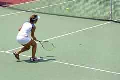 Junior Ladies Tennis Royalty Free Stock Images