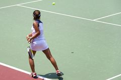Junior Ladies Tennis Stock Image