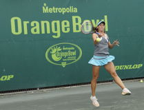 Junior Ladies Tennis Tournament Fotografia de Stock Royalty Free