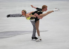 Junior Pairs-Free Skating event stock image
