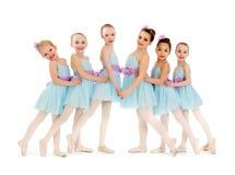 Junior Petite Ballet Class de muchachas Foto de archivo libre de regalías