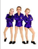 Junior Petite Tap Dance Trio Stock Photos