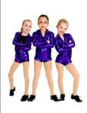 Junior Petite Tap Dance Trio stock photos