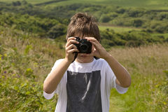 Junior Photographer Fotos de Stock Royalty Free