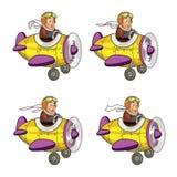 Junior Pilot Boy Animation Sprite. Cartoon Illustration of Junior Pilot Animation Sprite for game Stock Photo